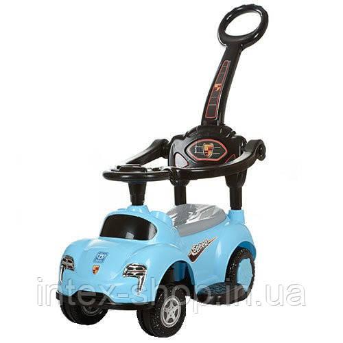 Детская машинка каталка толокар Bambi M 3274-4 музыка родительская ручка колесо 360граду