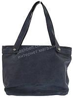 Удобная прочная вместительная женская сумочка с эко кожи art. 26243 синяя