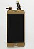 Оригинальный дисплей (модуль) + тачскрин (сенсор) для Meizu U10 (золотой цвет)