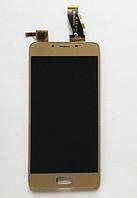 Оригинальный дисплей (модуль) + тачскрин (сенсор) для Meizu U10 (золотой цвет), фото 1