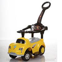 Детская машинка каталка толокар Bambi M 3274-6 музыка родительская ручка колесо 360градусов