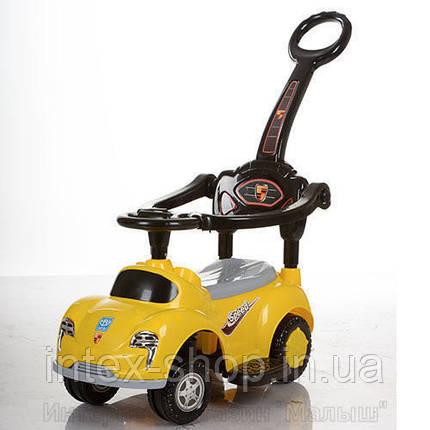 Детская машинка каталка толокар Bambi M 3274-6 музыка родительская ручка колесо 360градусов, фото 2
