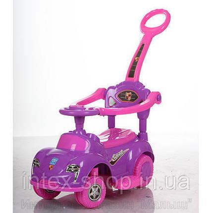 Детская машинка каталка толокар Bambi M 3274-8-9 музыка родительская ручка дительская ручка колесо 360градусов, фото 2