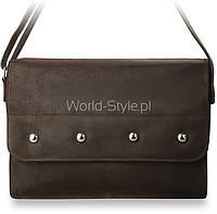 10-18 Коричневая мужская сумка на плечо Azil