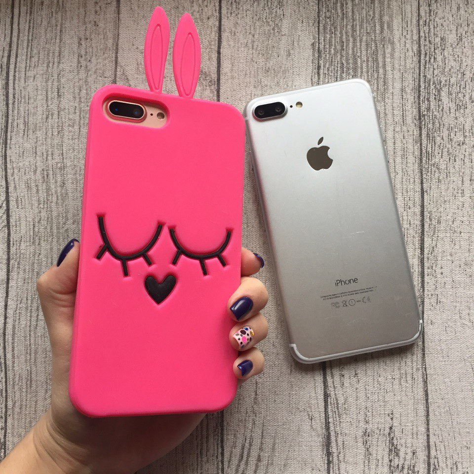 the latest 823ce 9e4c7 Силиконовый чехол зайка Marc Jacobs для iPhone 7 Plus: продажа, цена в  Запорожье. чехлы для ...