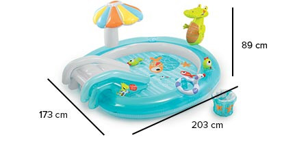 Надувной игровой центр с бассейном для улицы Intex