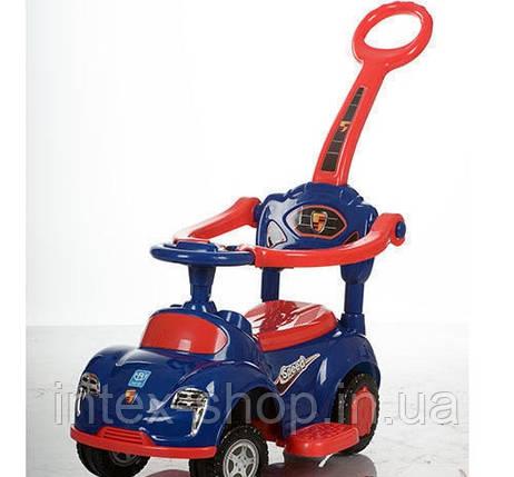 Детская машинка каталка толокар Bambi M 3274-4-3 музыка родительская ручка колесо 360градусов, фото 2
