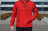 Мужской весенний Анорак Nike, красный.
