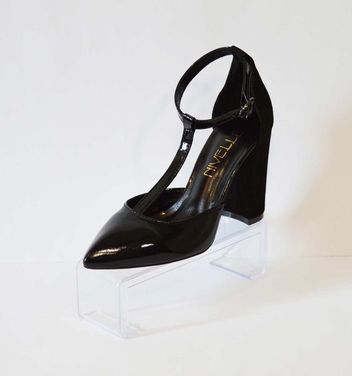 Туфли лакированные черные Nivelle 1594