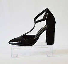 Туфли лакированные черные Nivelle 1594, фото 2