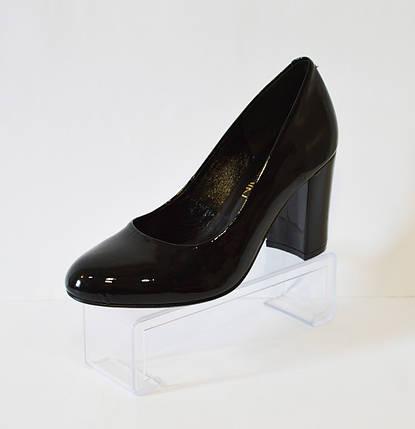 Женские черные лакированные туфли Nivelle 1527, фото 2