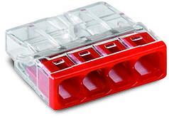 Соединитель WAGO COMPACT PUSH WIRE® для распределительных коробок, 4-проводная клемма