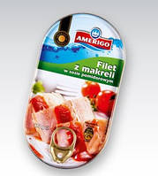 Филе скумбрии в томатом соусе Amerigo Filet z makreli w sosie pomidorowym 170h.
