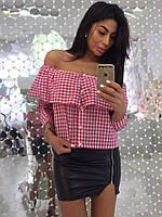 Женская блузка в клетку