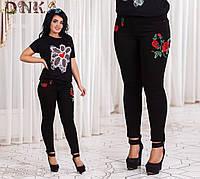 Джинсы женские с вышивкой    размер 48-50,50-52,52-54