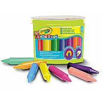 Цветные толстые восковые карандаши Crayola (мелки) для малышей в бочонке 24 шт