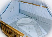 """Детский постельный комплект 8 в 1 с вышивкой без балдахина """"Песик"""""""