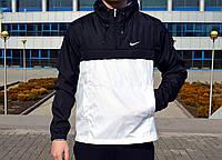 Мужской, весенний Анорак Nike. Черно-белый.