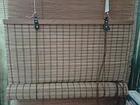 Бамбуковые рулонные шторы плотное плетение 60/160