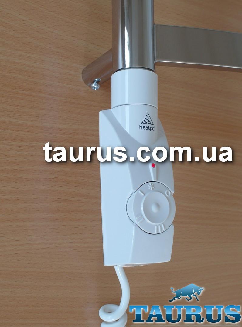 "ЭлектроТЭН Heatpol GE white: регулятор 15-65С + таймер 1-3 ч. для полотенцесушителей. Съёмный, Польша 1/2"""