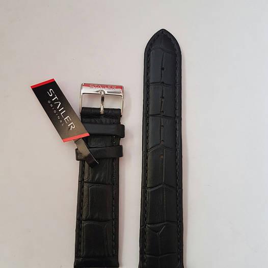 Кожаный ремень Stailer- из натуральной кожи, выделкой под крокодил с боковой прошивкой и нубуковой подкладкой