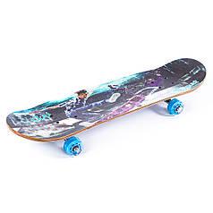 Скейтборд прозорі колеса PU 508