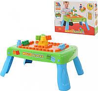 Набор игровой с конструктором (20 элементов) в коробке (зелёный) с элементом вращения, Полесье