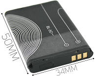 Аккумулятор Nokia BL-5C (Li-ion, 3.7В, 600мАч)