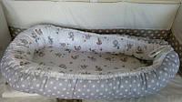 Колыбелька-кокон для новорожденных серый