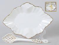 Набор: тарелочка с десертной ложкой, 15см