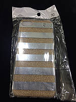 Чехол силикон Блестки gold для Iphone 7