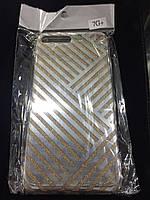 Чехол силикон Блестки gold для Iphone 7 Plus