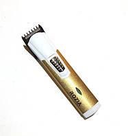 Триммер для лица мужской Rozia 201, аккумулятор/батарейка, 3 режима, титановые лезвия, масло, щетка