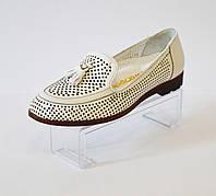 Женские белые летние туфли Euromoda 180-6013