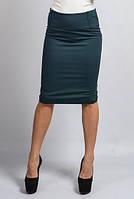 Юбка миди зеленая с пуговицами, фото 1
