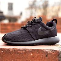 Кроссовки мужские Nike (найк) Roshe Run (роше раны) черные 2017
