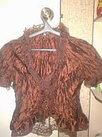 Кофта, блузка коричневая