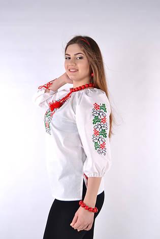 Красивая женская вышиванка Калина(хлопок), фото 2