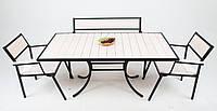"""Комплект мебели для кафе Микс-Лайн """"Бристоль"""" Белый цвет заказчика, черный"""