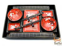 Набор посуды для суши на 2 персоны Цветы Сакуры