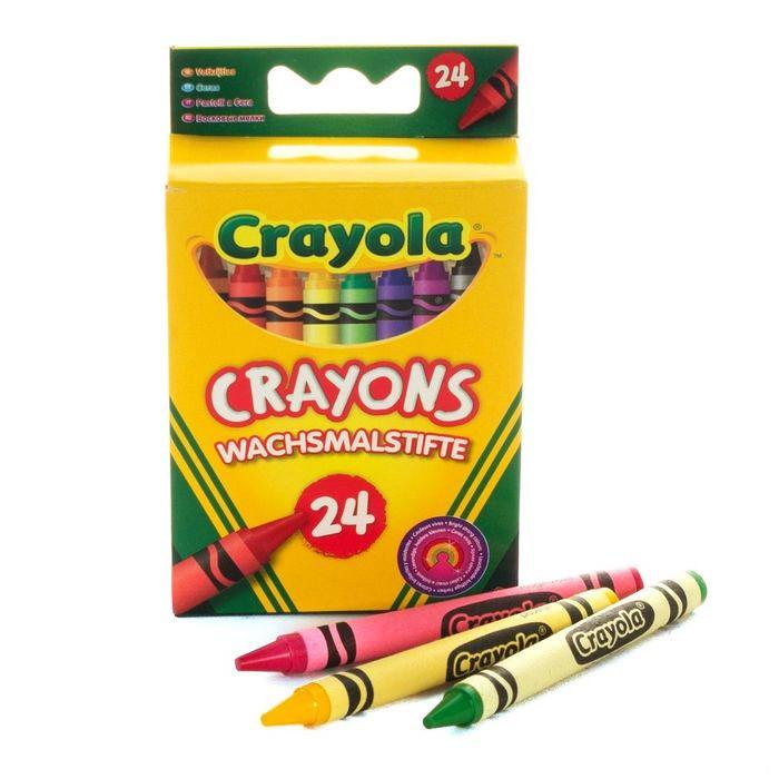 Цветные восковые карандаши Crayola (мелки) 24 шт (арт. 0024)