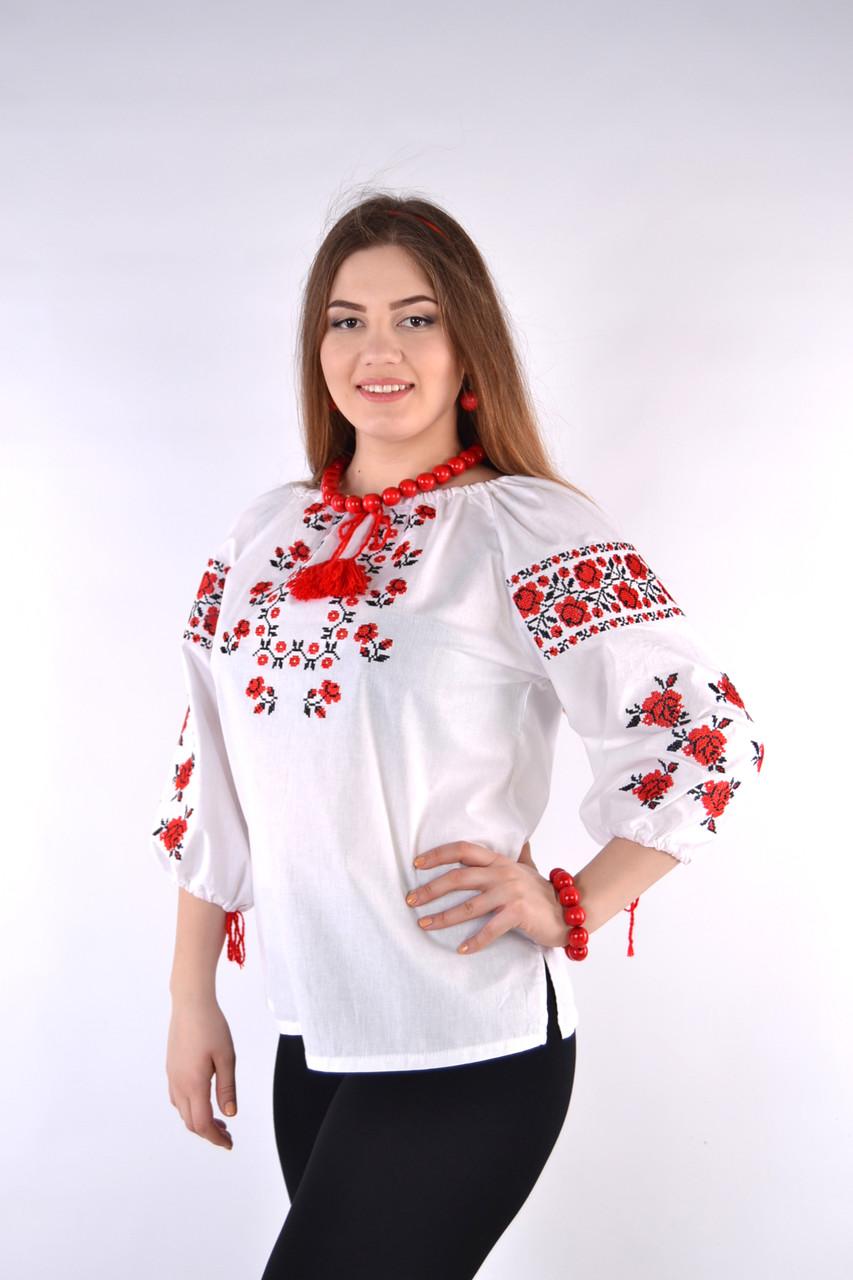Нарядная женская вышиванка от производителя (хлопок)