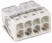 Соединитель WAGO COMPACT PUSH WIRE® для распределительных коробок, 8-проводная клемма