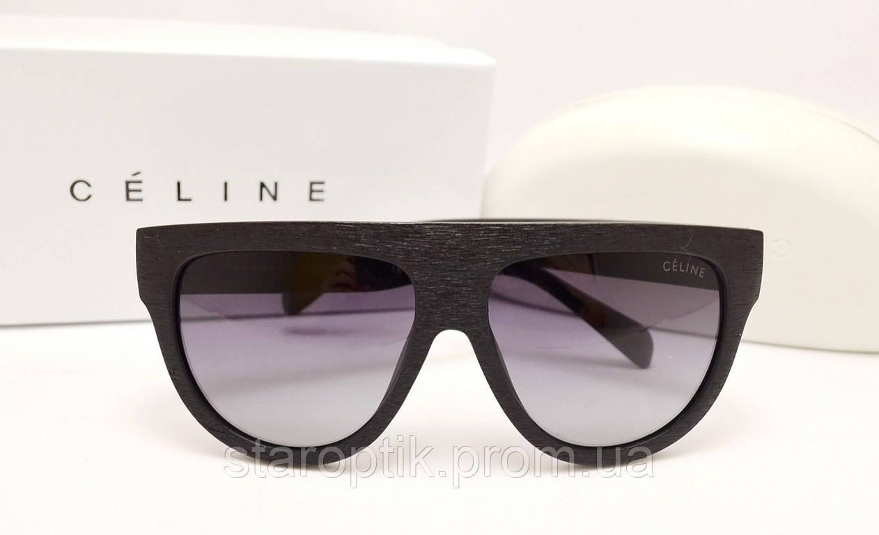 Женские солнцезащитные очки Celine CL 41026/S SHADOW оправа дерево - Star Optik в Одессе