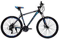 """Велосипед KINETIC CRYSTAL 27.5"""", рама 19"""", черно-синий"""