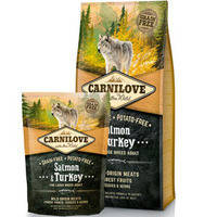 Сухой корм Carnilove Adult Dog Salmon & Turkey Large Breed для собак. Беззерновой 1.5 кг.