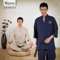 Костюм мужской льняной брюки и удлиненная рубаха для медитаций. Здоровая одежда из натурального льна