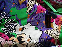 Шарф шелковый Louis Vuitton зеленый