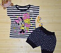 Комплект для девочки (футболка+шорты) р.92-116см