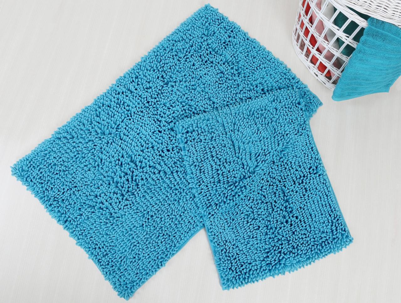 Набор ковриков для ванной Irya - Drop turkuaz бирюзовый - 60*100+45*60